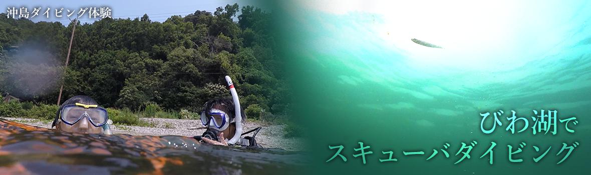 びわ湖でスキューバダイビング!